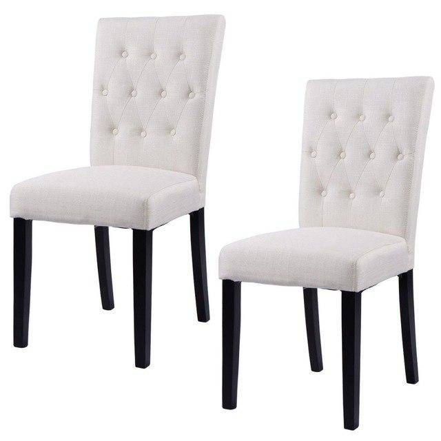 Silver Molly Set of 2pcs Fabric Dining Chair Armless