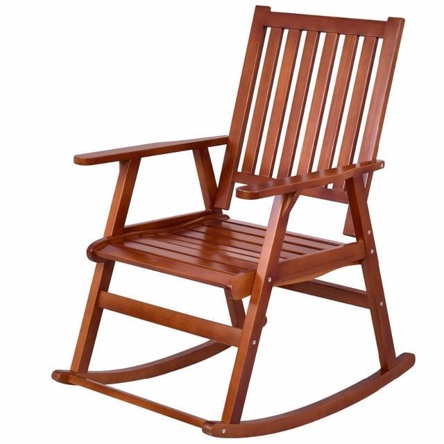 Silver Molly Wood Rocking Chair Garden Single Porch