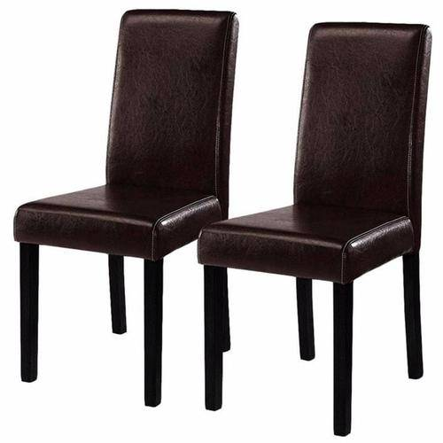 Silver Molly 2 Pieces Set Modern Dining Chairs Black