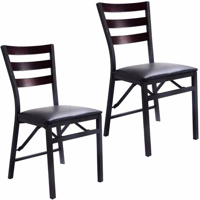 Silver Molly Set of 2 Folding Chair Dining Chairs Home