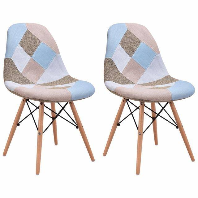 Silver Molly Set of 2 Pcs Modern Dining Side Chair