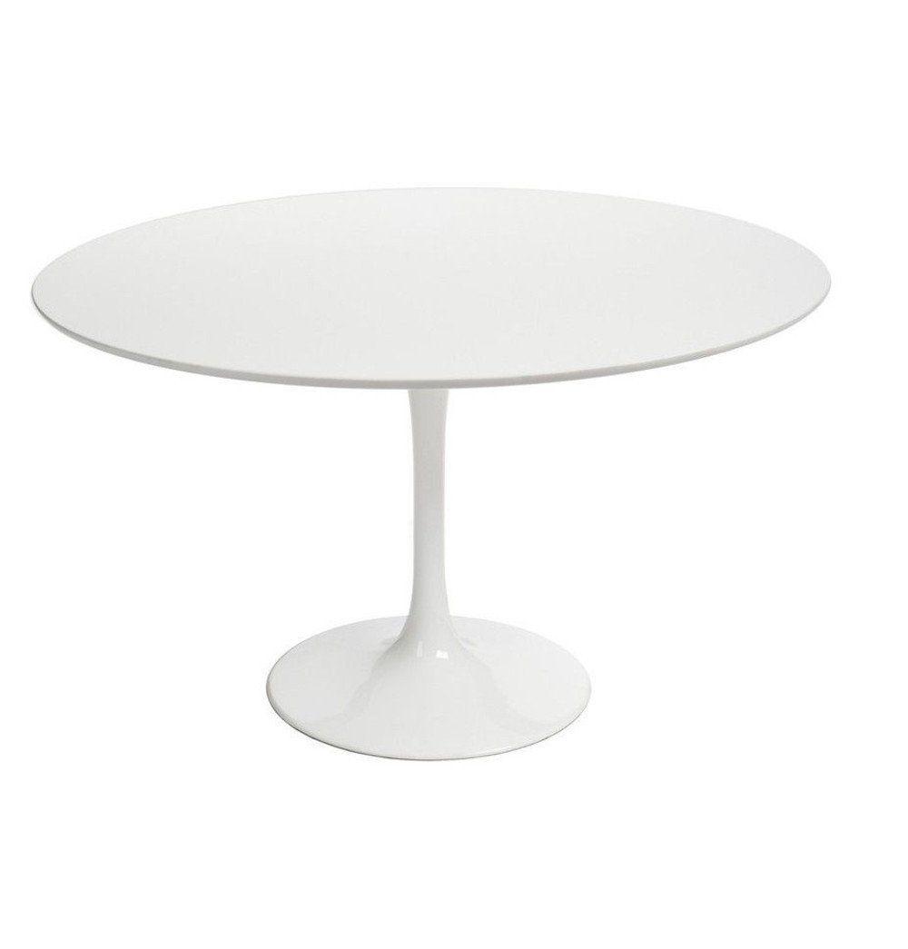 Azure Tiger Tulip Dining Table - Round - Fiberglass Top -