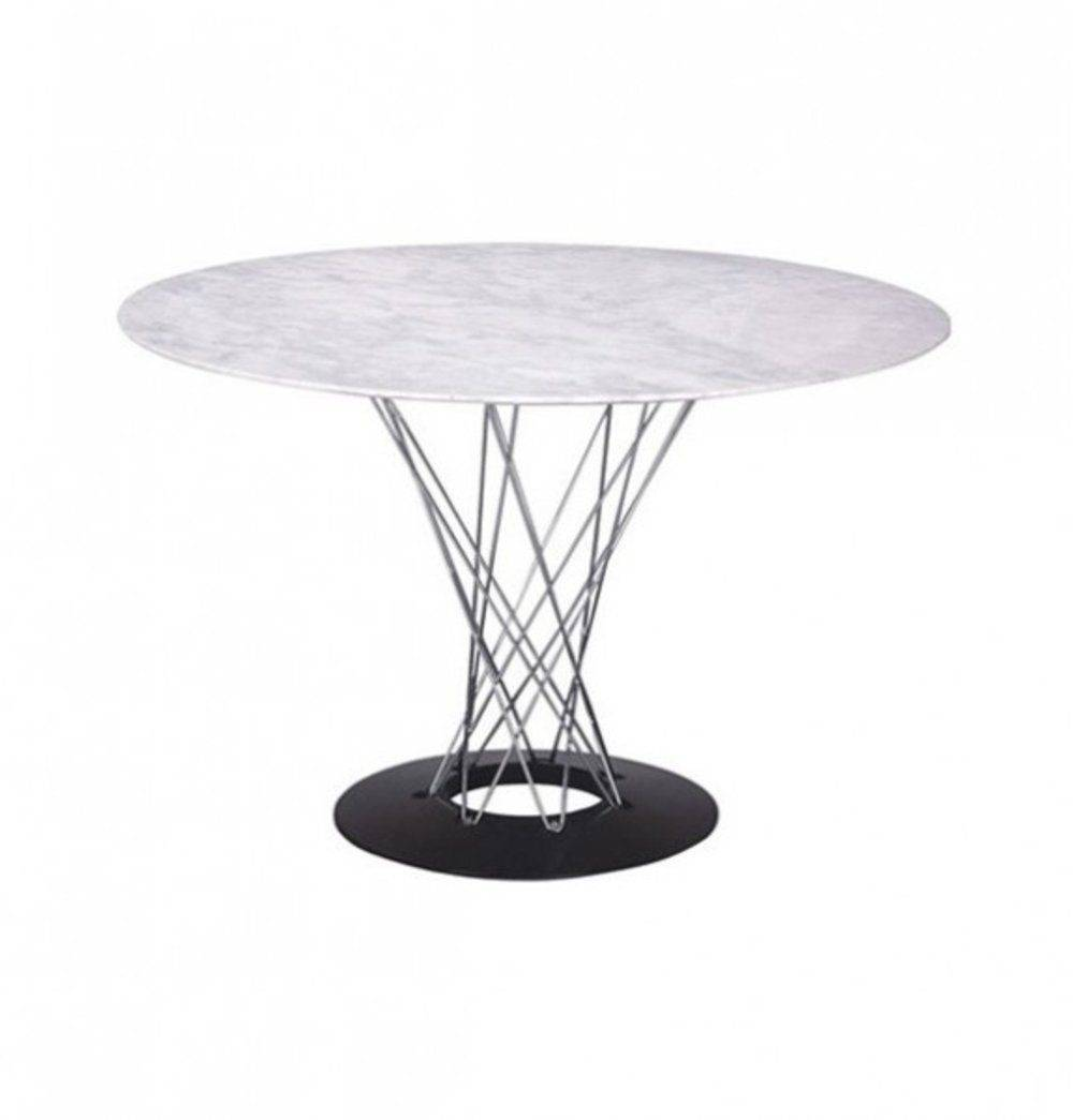 Azure Tiger Malena Dining Table - White Marble Top