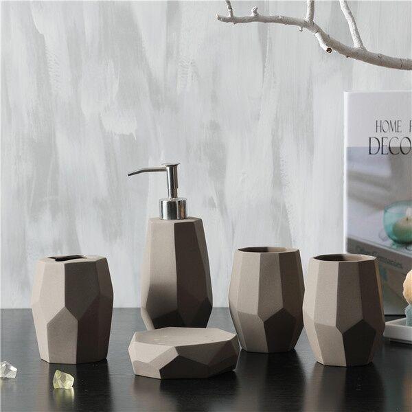 ApolloBox Faceted Bath Accessories Set