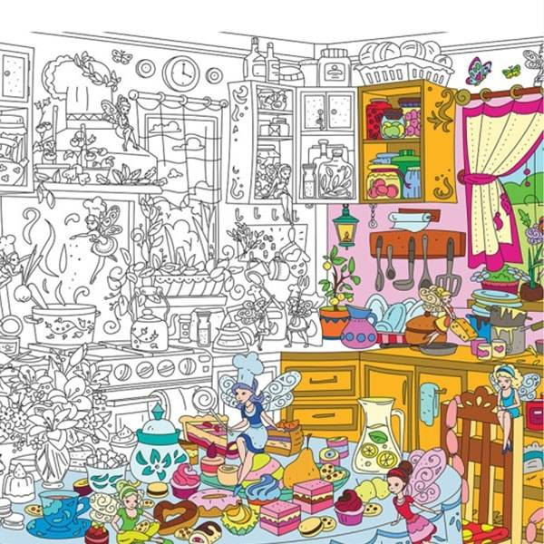 ApolloBox Kitchen Fairies Coloring Poster