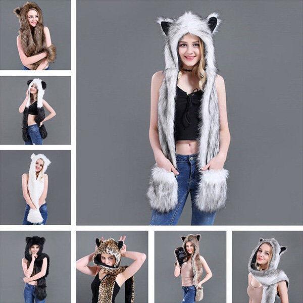 ApolloBox 3-in-1 Faux Fur Winter Accessory