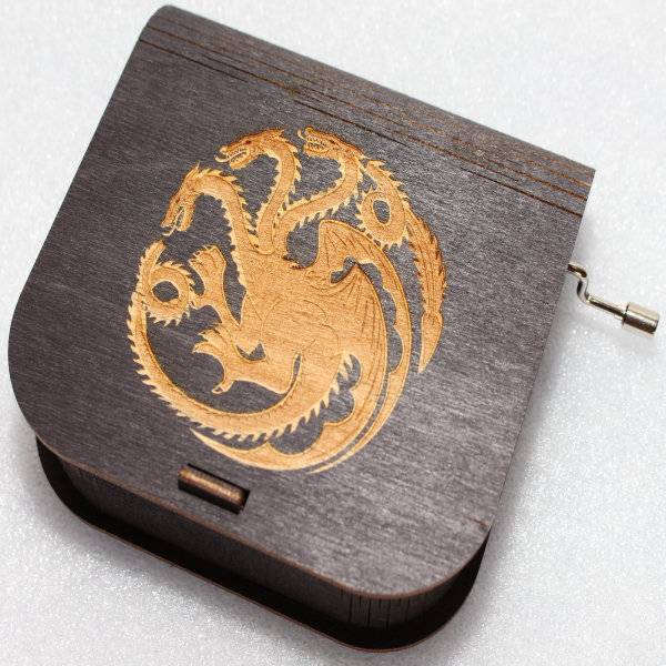 ApolloBox Game Of Thrones Music Box - Targaryen Logo