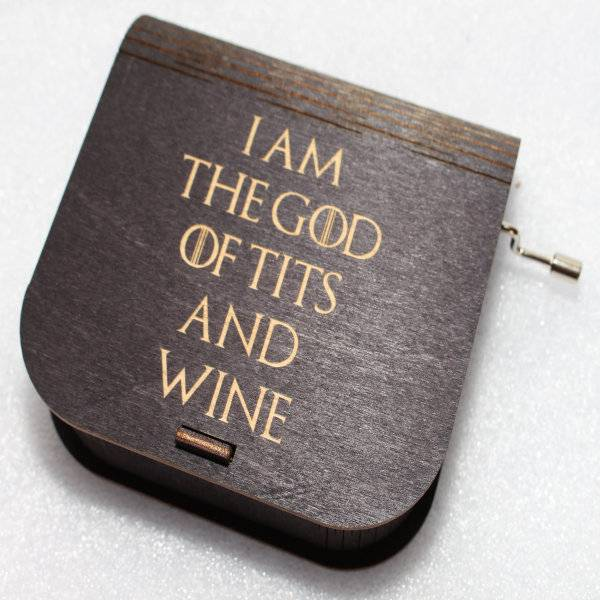 ApolloBox Game Of Thrones Music Box - I Am The God Of Tits And Wine