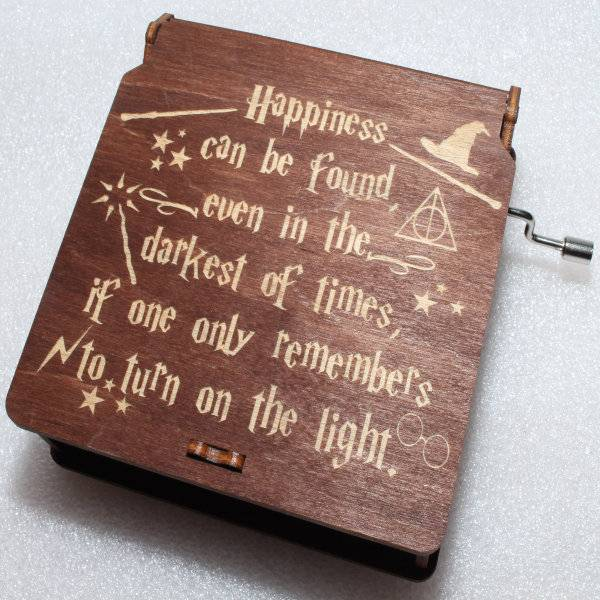 ApolloBox Harry Potter Music Box - Hapiness Can Be Found