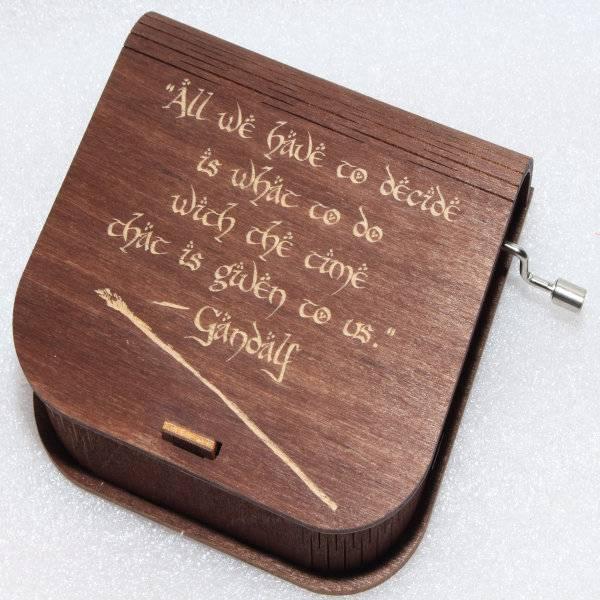 ApolloBox Lord Of The Rings Music Box - All We Have To Decide