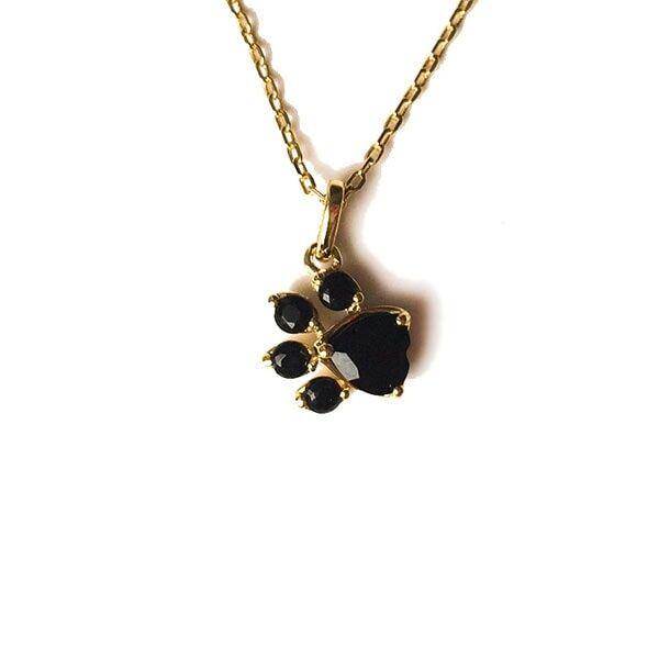 ApolloBox Crystal Cat Paw Print Necklace