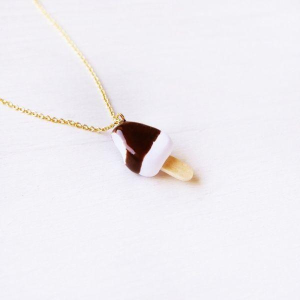 ApolloBox Cute Chocolate Ice Cream Bar Necklace