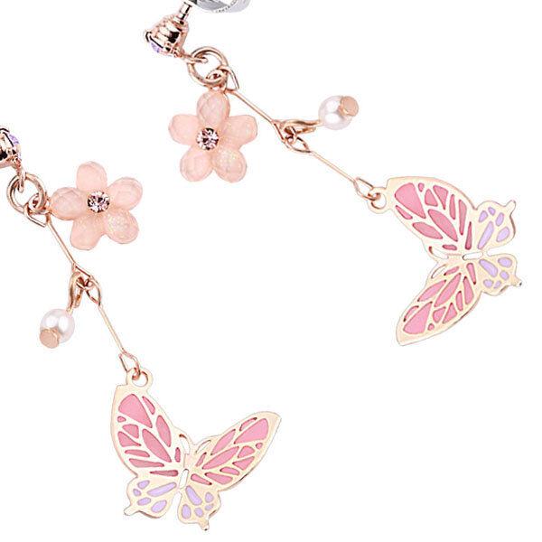 ApolloBox Flirty Flower Butterfly Drop Earrings