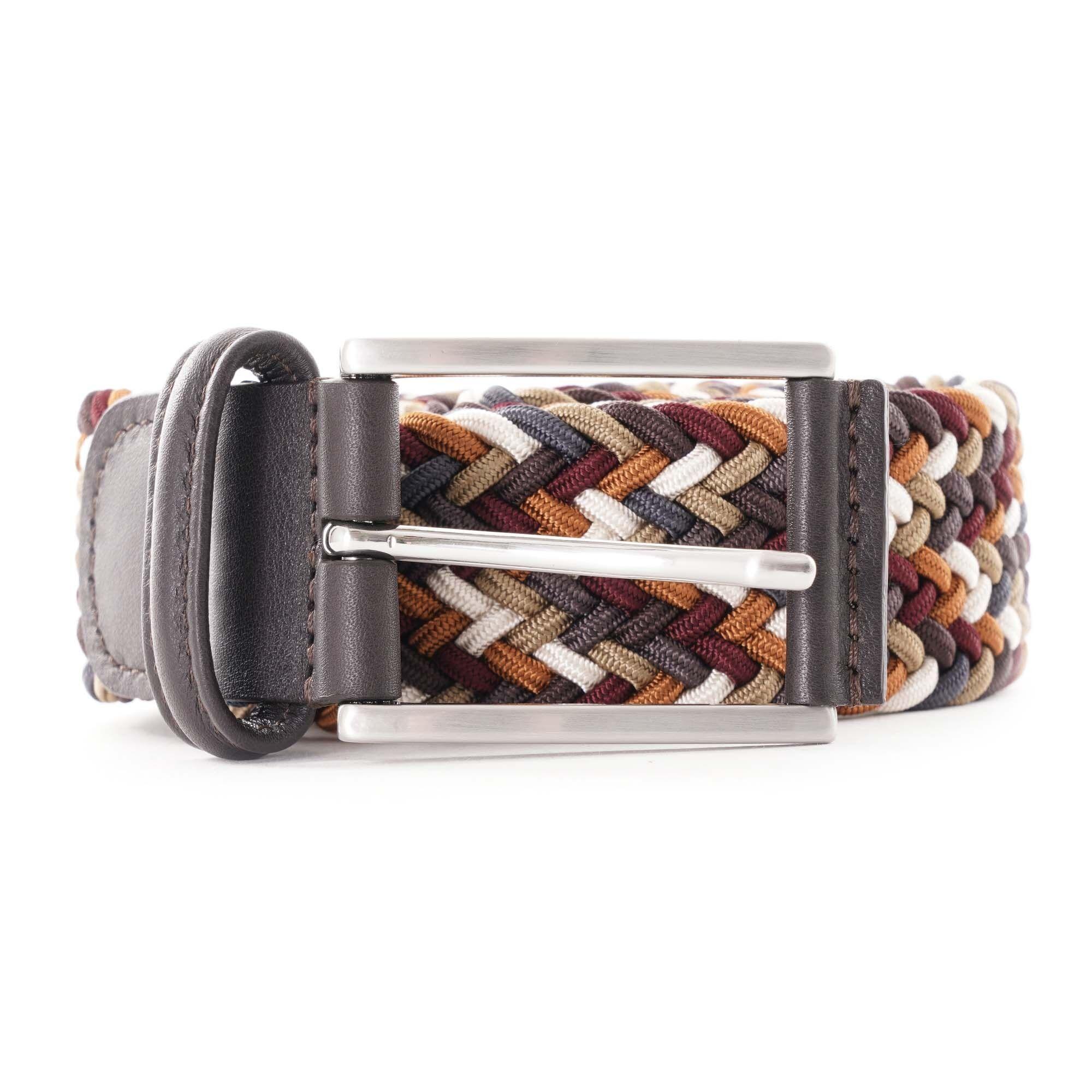 Anderson's Belts Woven Belt - Brown Multi AF3689-111