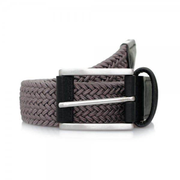 Anderson's Belts Elastic Woven Belt   Grey   B667/N1 G