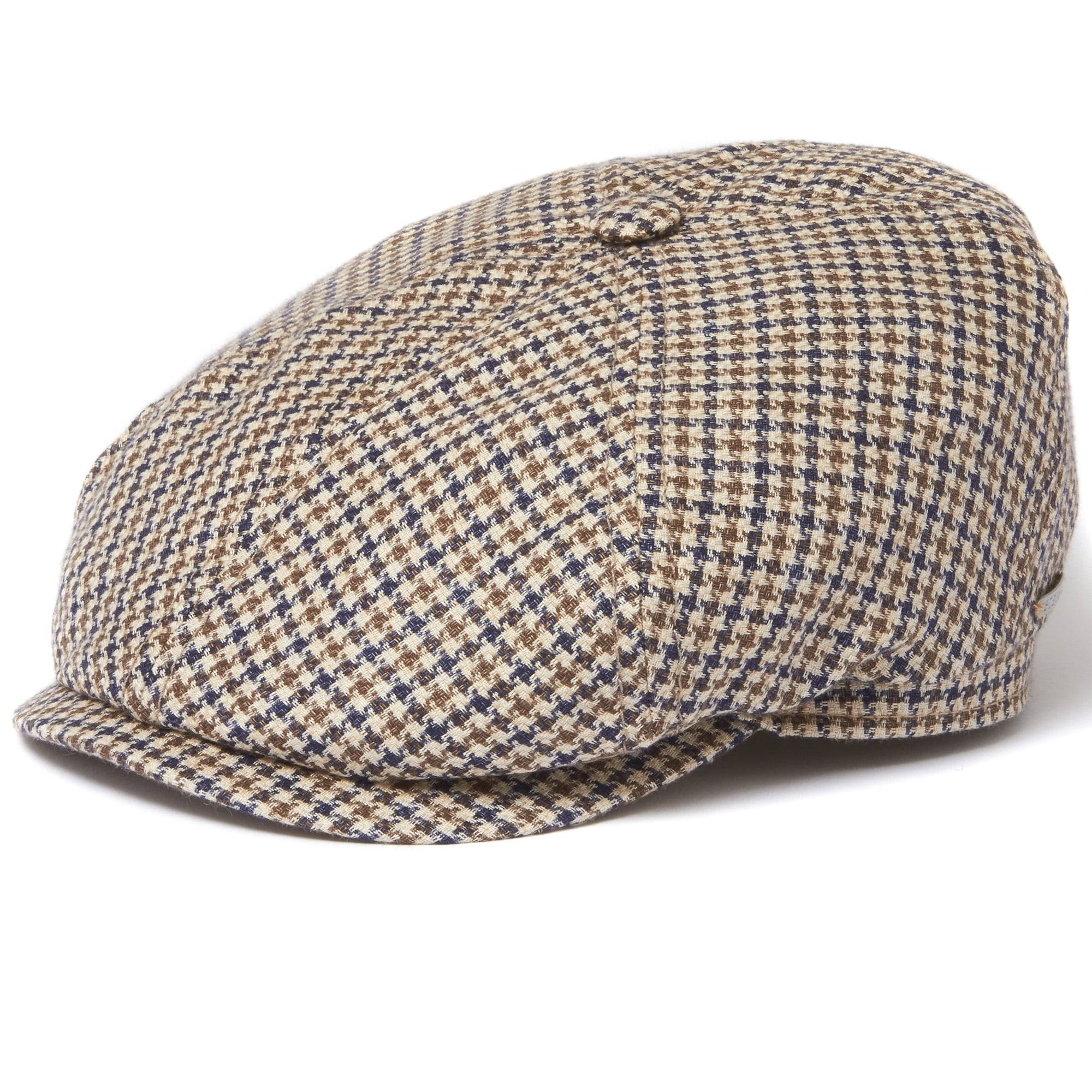 Stetson Hats Stetson Houndstooth Narrow Check 6-Panel Flat Cap 6643203152
