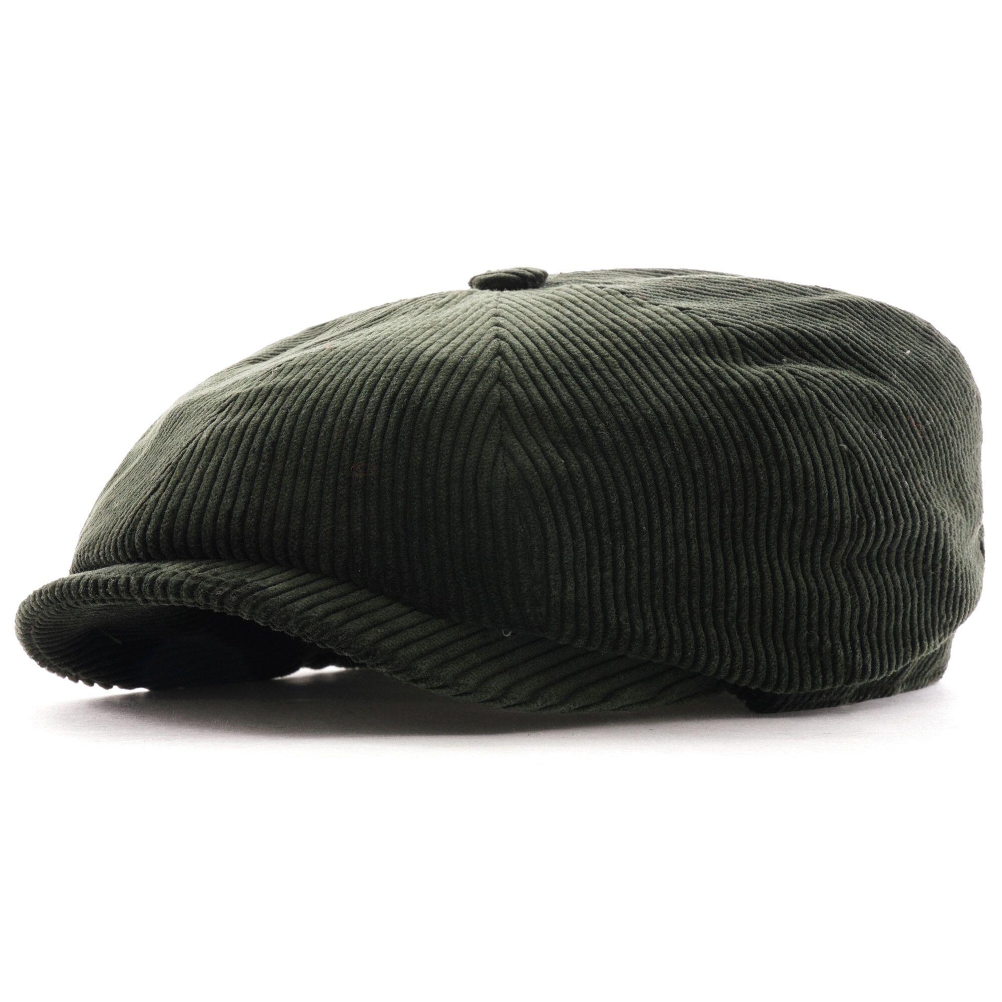 Stetson Hats Hatteras Classic Corduroy Flat Cap   Green   6841107-4 GRN
