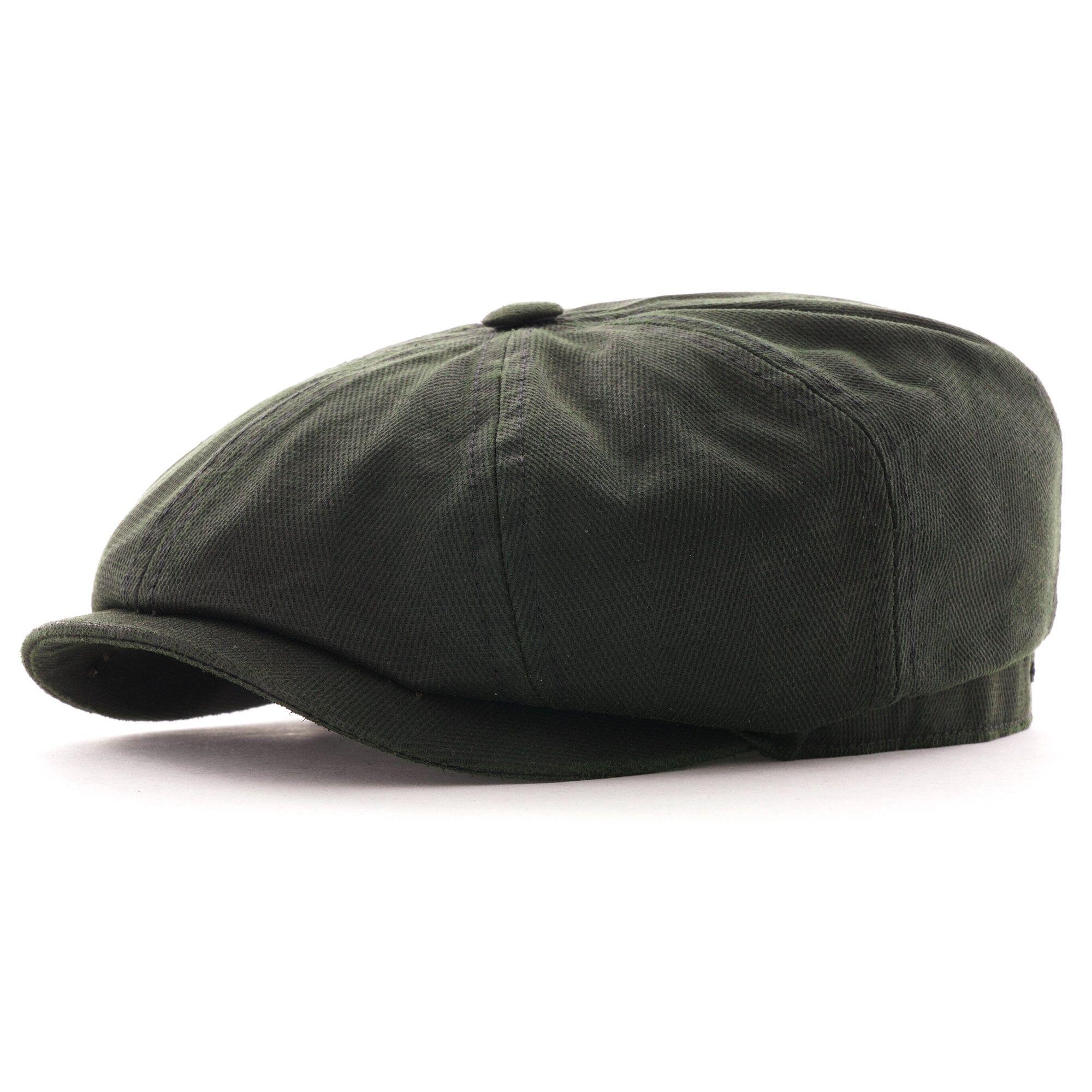 Stetson Hats Hatteras Cotton-Mix Flat Cap   Khaki   6841509-341
