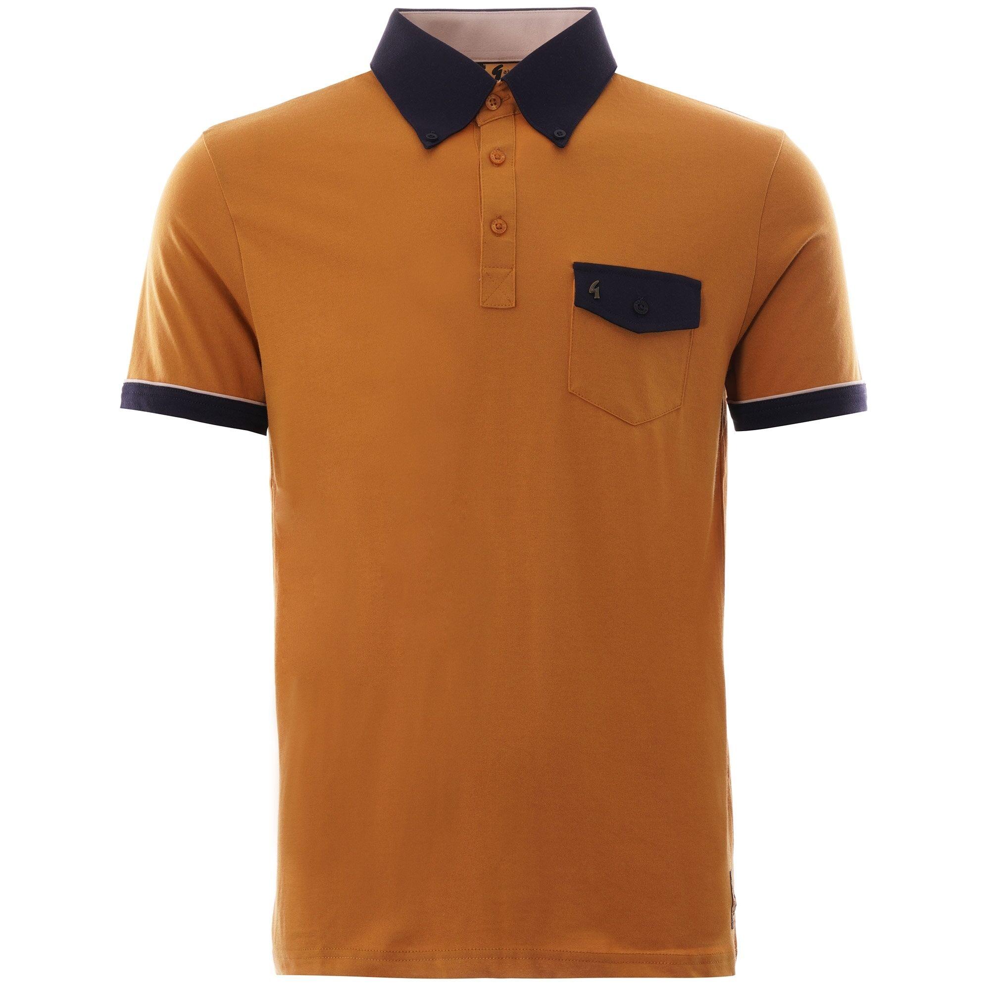 Gabicci Vintage 1973 Ganicci Cool Ruler Poloshirt   Hay  V44GIX01-HAY