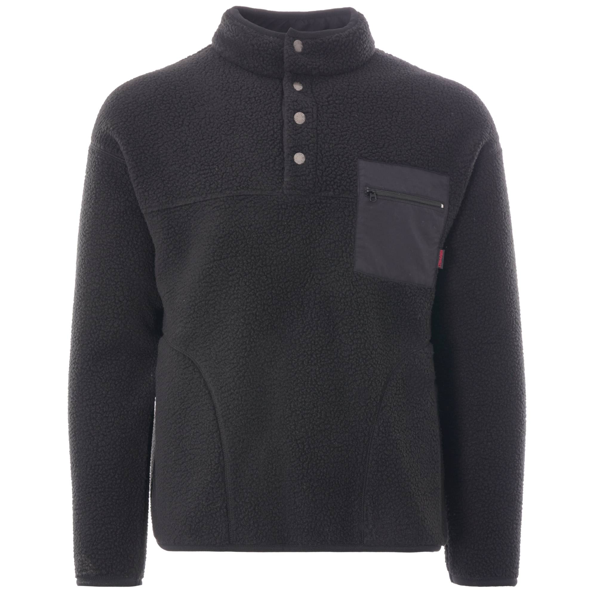 Gramicci Boa Fleece Zip Jacket   Black   GM-410843