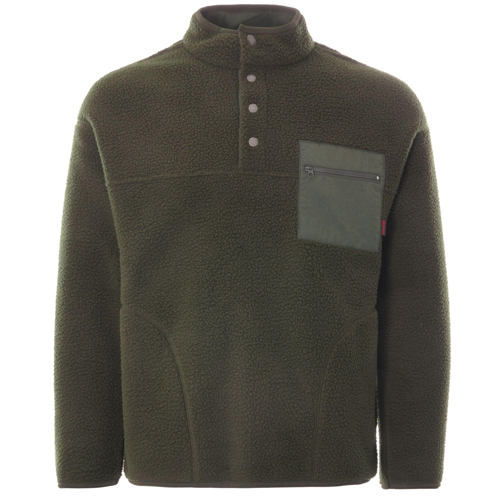Gramicci Boa Fleece Zip Jacket   Olive   GM-410782 OLV