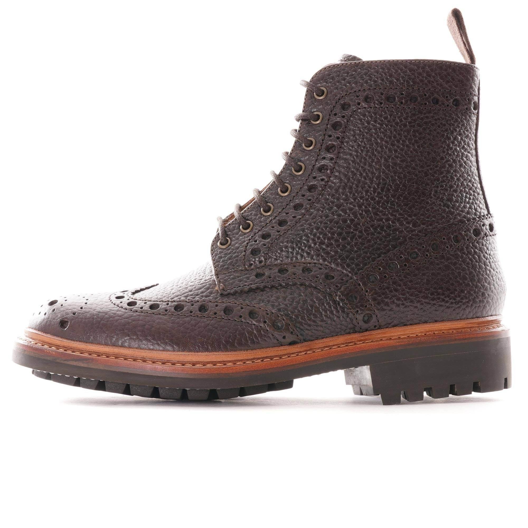 Grenson Fred Brogue Boot   Dark Brown   112907-DKBN