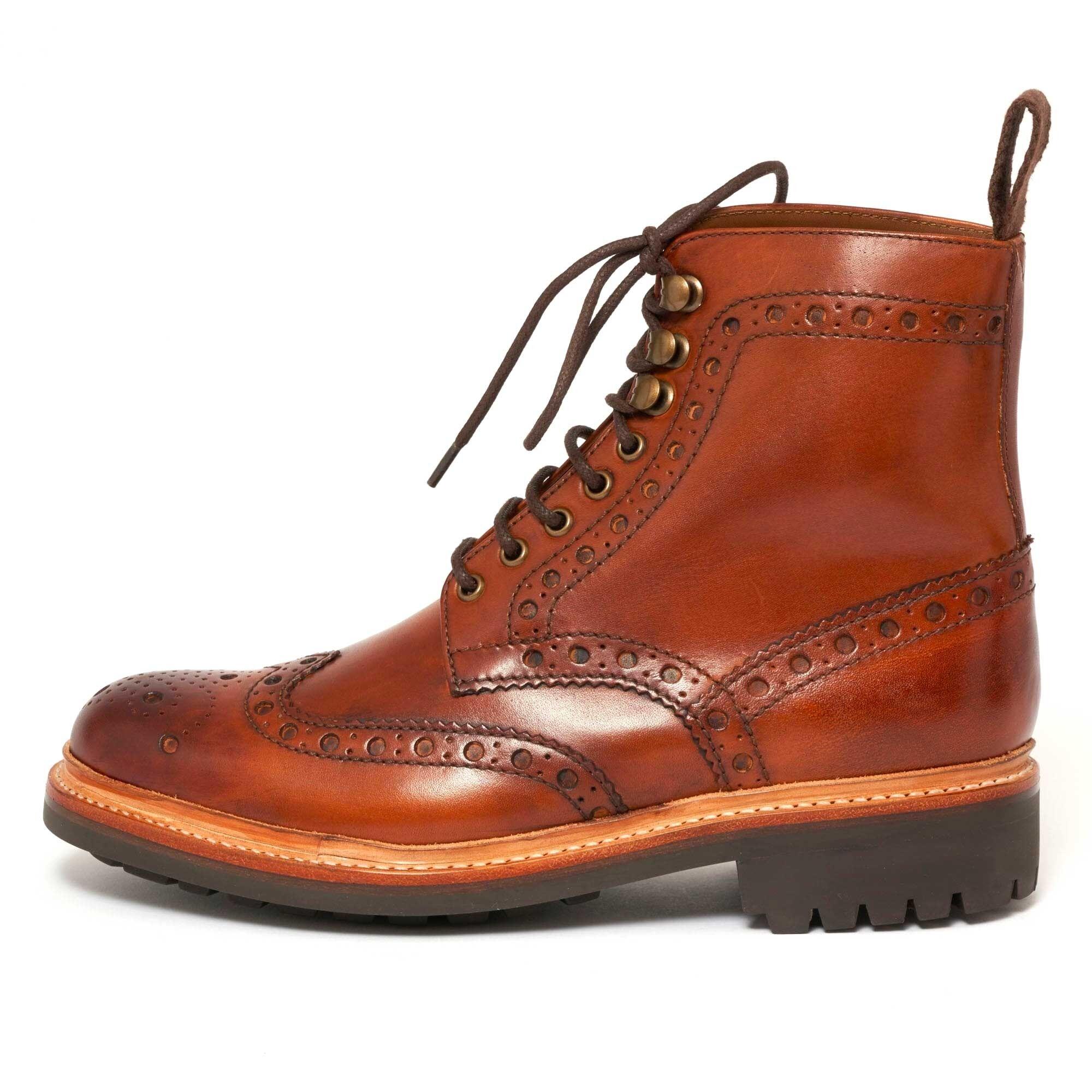 Grenson Fred Brogue Boot Tan 111394