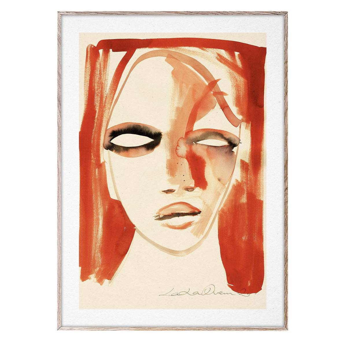 Paper Collective Red Portrait poster