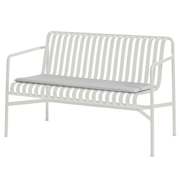 Hay Palissade seat cushion for dining bench, sky grey