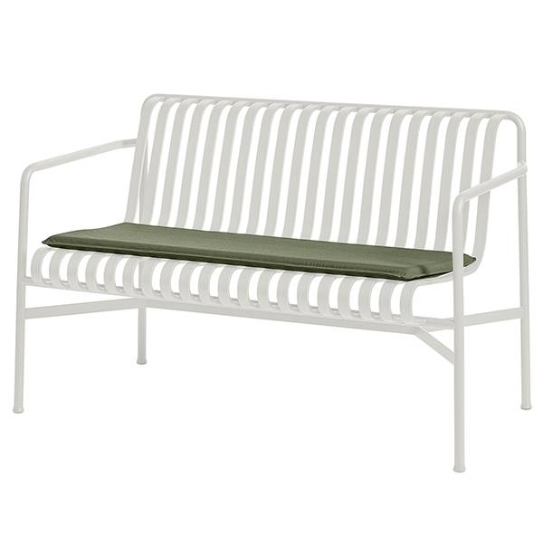 Hay Palissade seat cushion for dining bench, olive