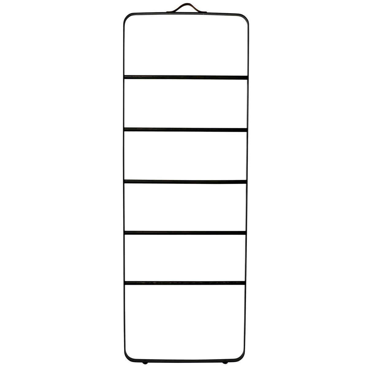Menu Towel ladder, black - dark ash