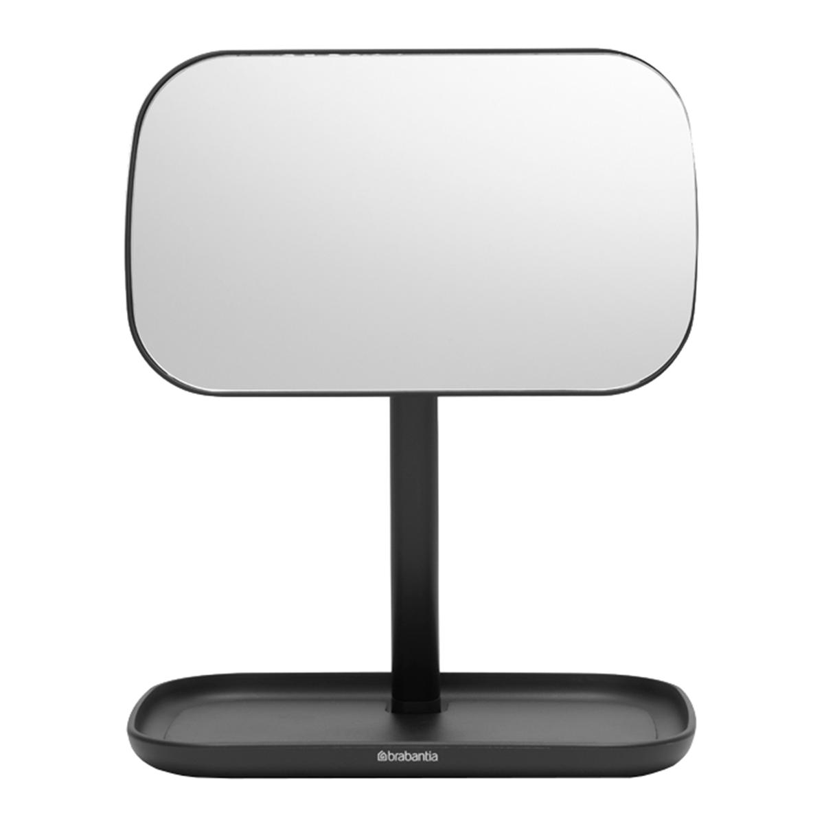Brabantia ReNew mirror with storage tray, dark grey