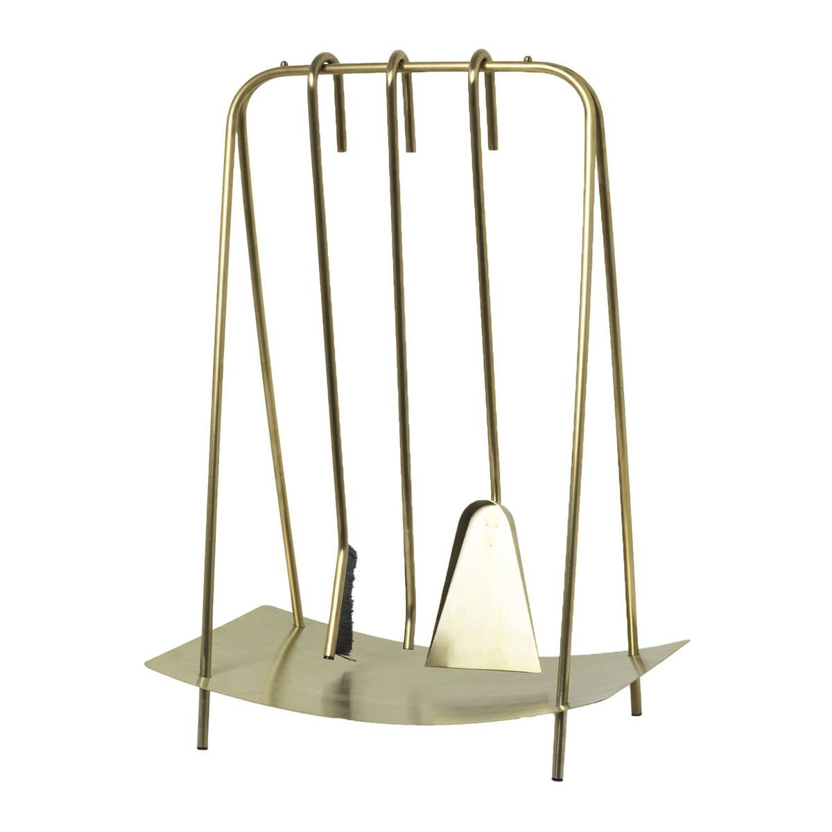 Ferm Living Port fireplace tools, brass
