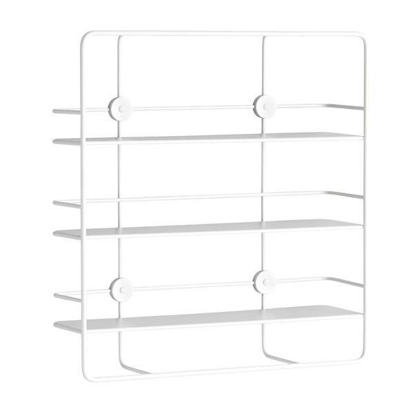 Woud Coupé wall shelf, rectangular, white