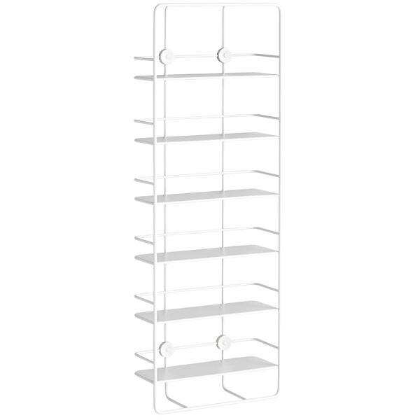 Woud Coupé wall shelf, vertical, white