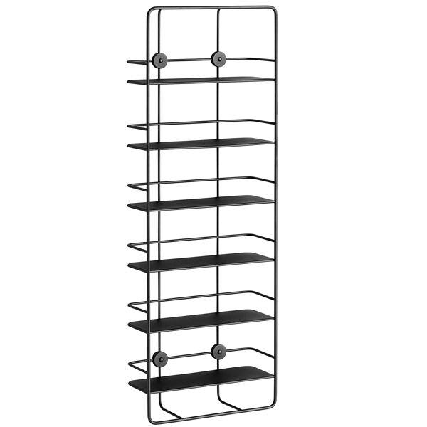 Woud Coupé wall shelf, vertical, black