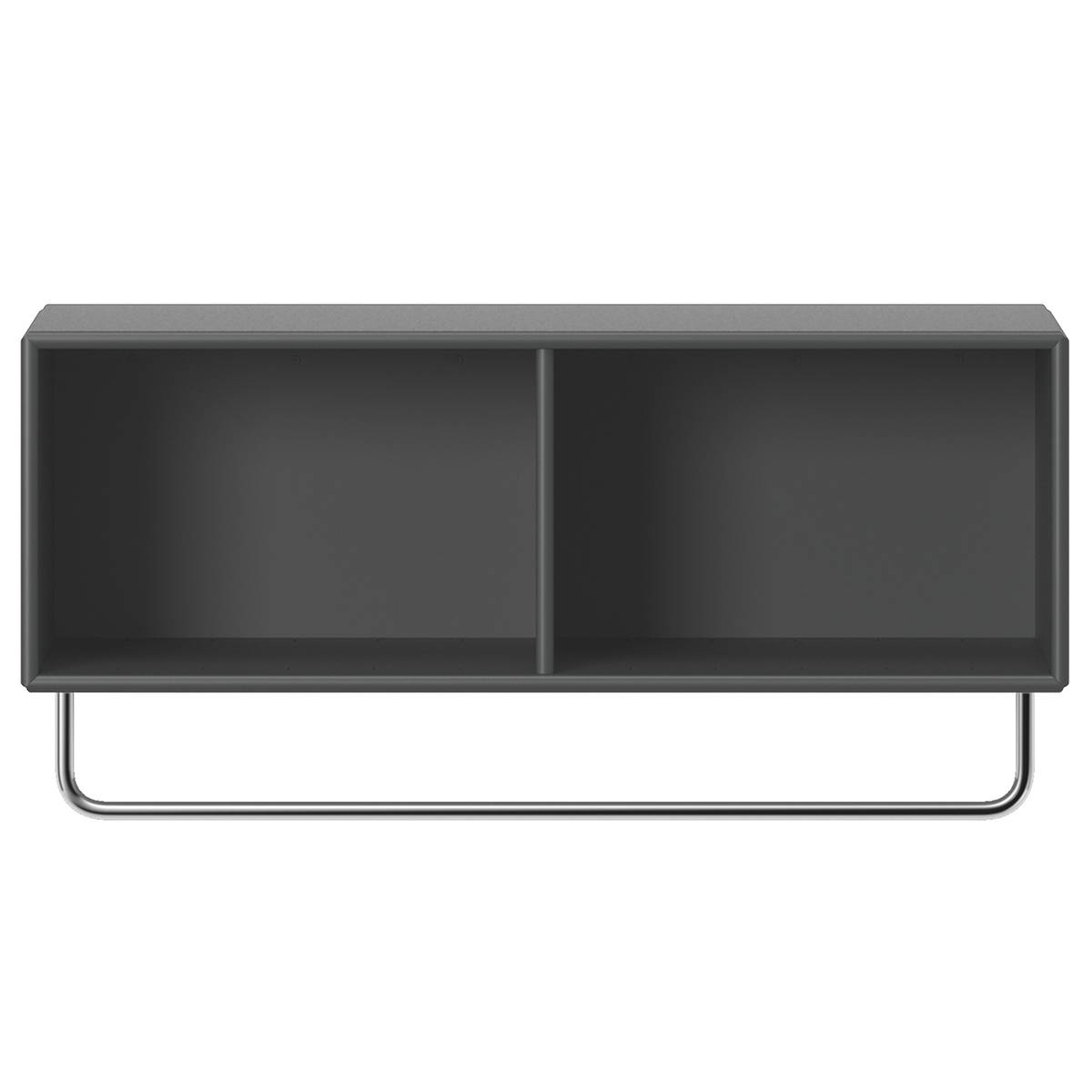 Montana Furniture Coat hat shelf with clothes rack, 04 Antracite