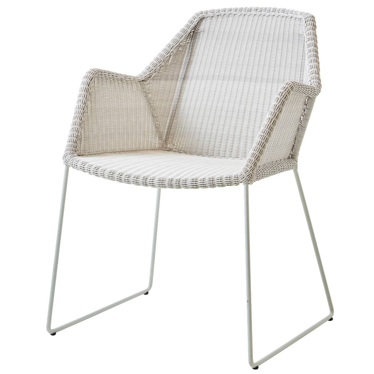 Cane-line Breeze dining chair, white grey