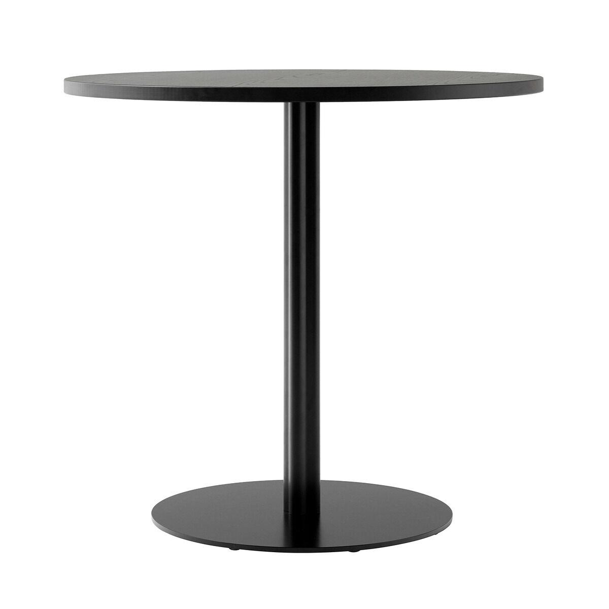 Menu Harbour Column dining table, 80 cm, black base - black stained o
