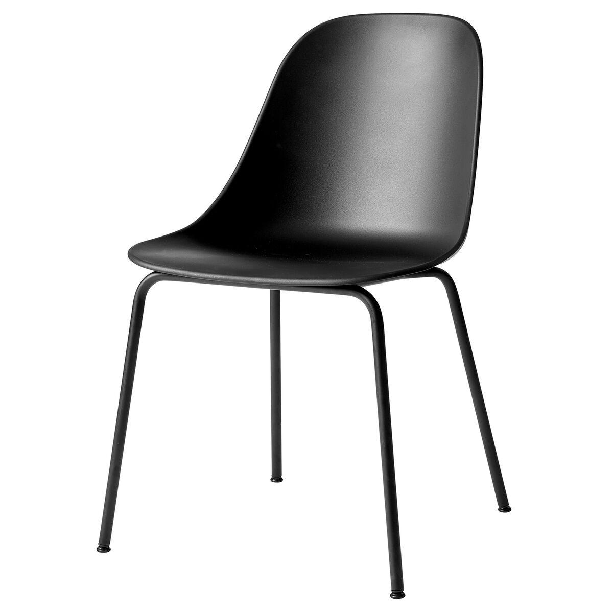 Menu Harbour dining side chair, black - black steel