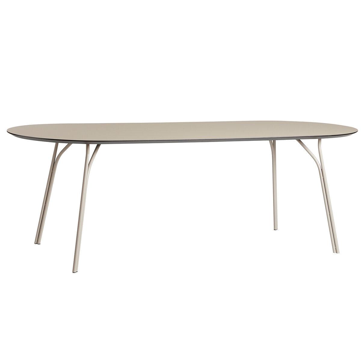 Woud Tree dining table, 220 x 90 cm, beige
