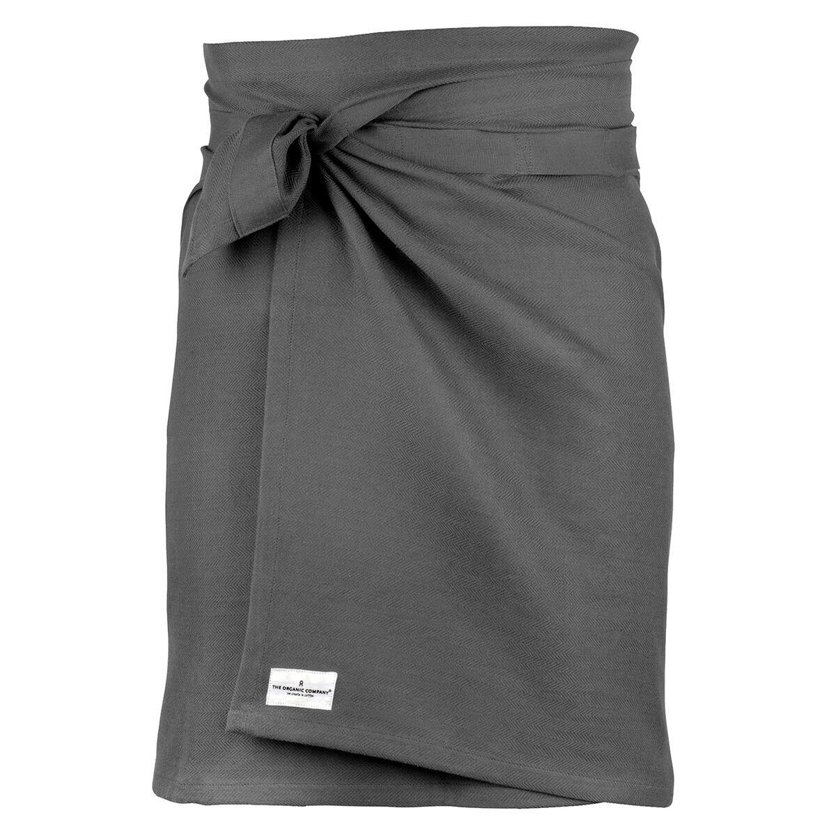 The Organic Company Giant kitchen towel/apron, dark grey