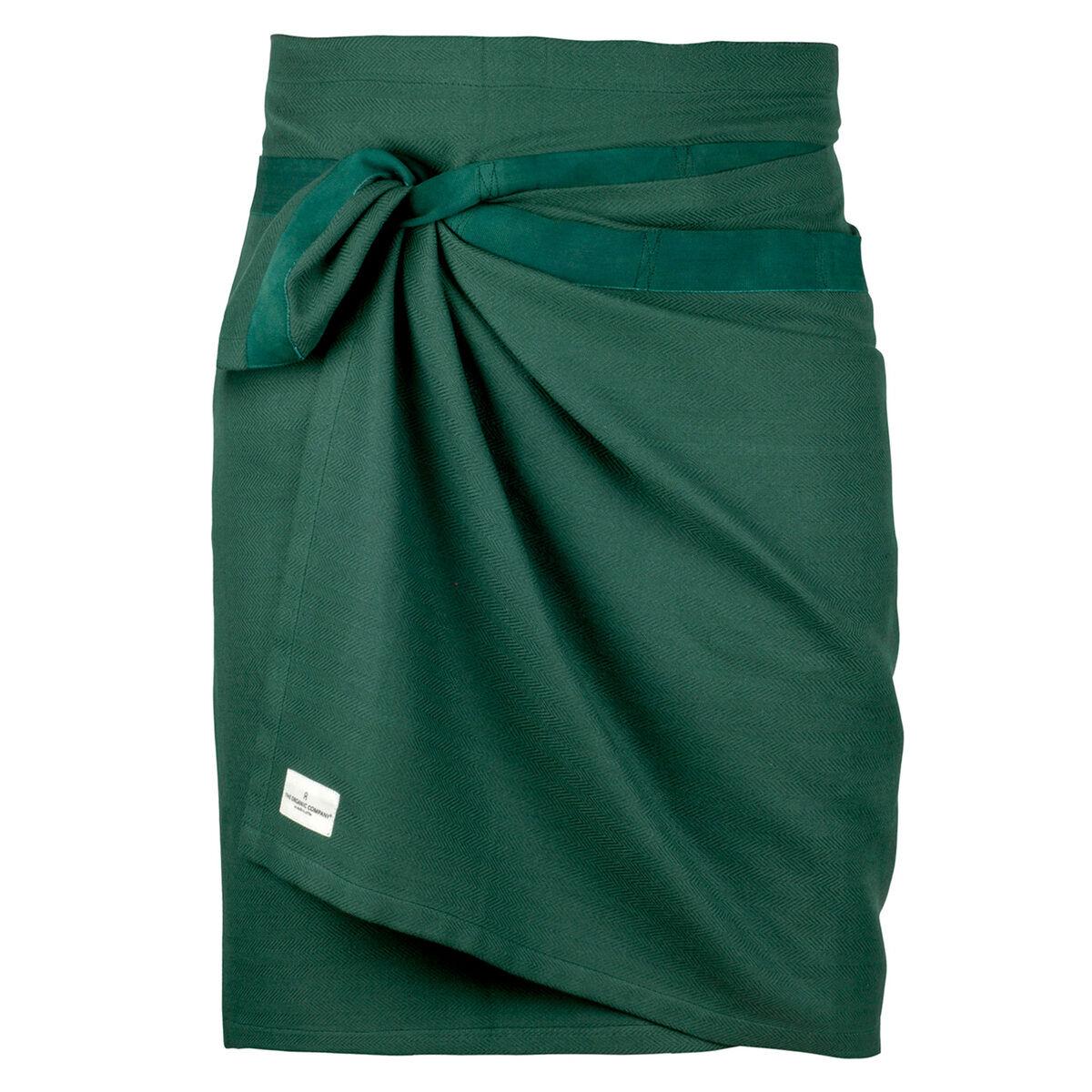 The Organic Company Giant kitchen towel/apron, dark green