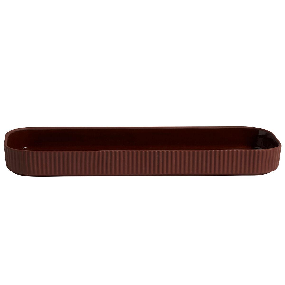 Hay Facade tray, dark terracotta