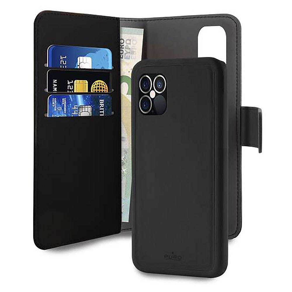 Puro Case Leather Eco Apple Iphone 12/12 Pro With Removable Magnetic Case One Size Brown / Black; un
