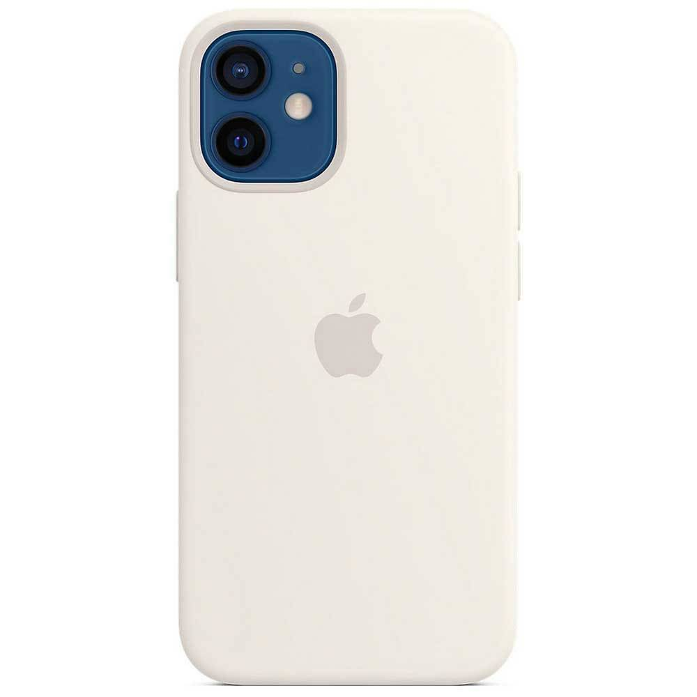 Apple Iphone 12 Mini Silicone Case With Magsafe One Size White; unisex,
