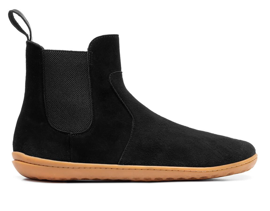 Vivobarefoot Fulham Suede Womens - Obsidian 39