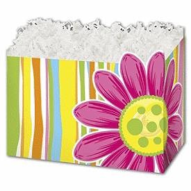 """Bags & Bows by Deluxe Citrus Garden Gift Basket Boxes, 10 1/4 x 6 x 7 1/2"""""""