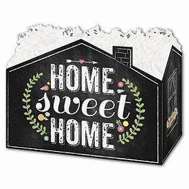Bags & Bows by Deluxe Chalkboard Home Gift Basket Boxes, 10 1/4 x 6 x 7 1/2""