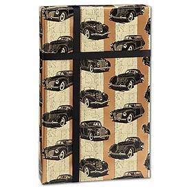 """Bags & Bows by Deluxe Classic Cars Gift Wrap, 24"""" x 417'"""